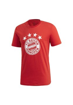 adidas Performance - FC BAYERN DNA GRAPHIC T-SHIRT - Vereinsmannschaften - red