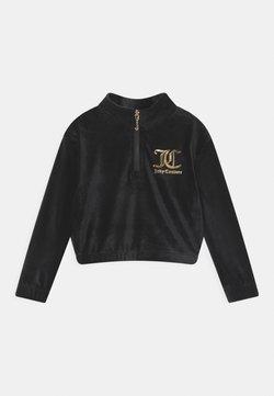 Juicy Couture - QUARTER ZIP - Collegepaita - jet black