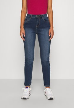 Wallis Petite - MIDWASH SCARLET - Straight leg jeans - blue