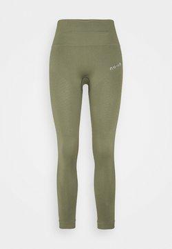 NU-IN - SEAMLESS HIGH WAIST DETAIL LEGGINGS - Tights - green