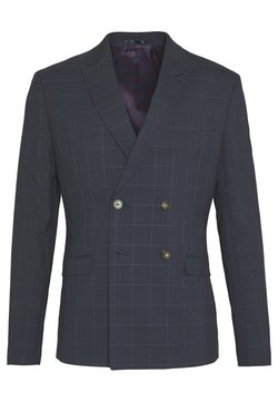 Isaac Dewhirst - DOUBLE BREASTED WINDOWPANE CHECK SUIT - Costume - dark blue