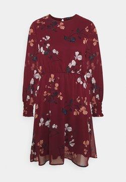 Vero Moda - VMSMILLA DRESS  - Freizeitkleid - cabernet/hallie