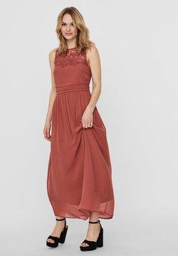 Vero Moda - VMVANESSA DRESS ANCLE - Ballkleid - marsala