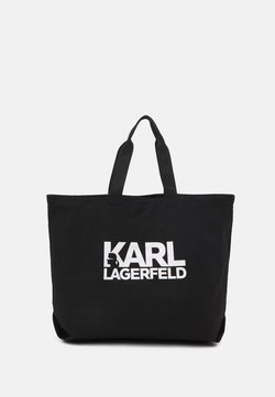 KARL LAGERFELD - EXCLUSIVE WRITING - Shoppingväska - black