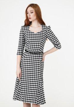 Madam-T - LUNA - Freizeitkleid - weiß schwarz