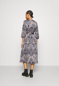Vila - VILIVA MEDI BELT DRESS - Freizeitkleid - black