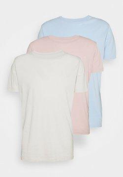 Replay - CREW TEE 3 PACK - T-shirt basic - ice grey/quarz rose/azure pastel