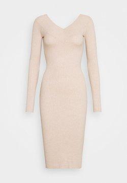 Even&Odd - JUMPER DRESS - Fodralklänning - light tan melange