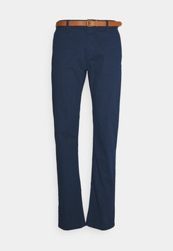 TOM TAILOR - PRINTED CHINO - Chinot - blue cross design
