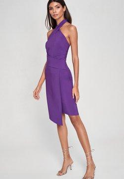 Lipsy - TWIST NECK - Fodralklänning - purple