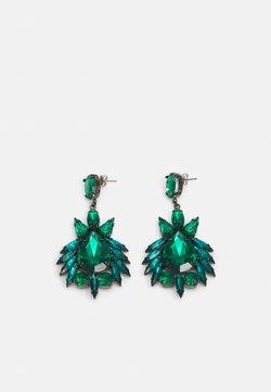 Pieces - PCLAYA EARRINGS - Earrings - dark silver colour/green
