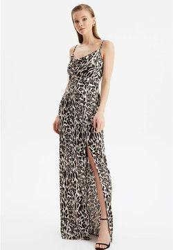 Trendyol - Długa sukienka - brown