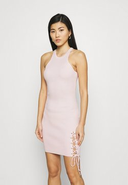 Guess - ALEXA TIE DRESS - Vestido de punto - pink sky
