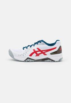 ASICS - GEL-CHALLENGER 12 - Scarpe da tennis per tutte le superfici - white/classic red