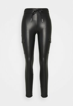 ONLY - ONLZABO STRING - Leggings - Hosen - black