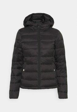 ONLY - ONLSANDIE QUILTED HOOD JACKET - Overgangsjakker - black