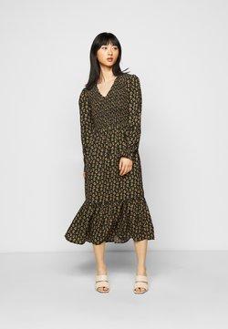 ONLY Petite - ONLJESS CALF DRESS - Vestido informal - black/yellow