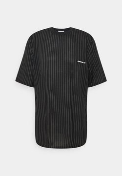 NUMERO 00 - STRIPED TEE - T-Shirt print - black