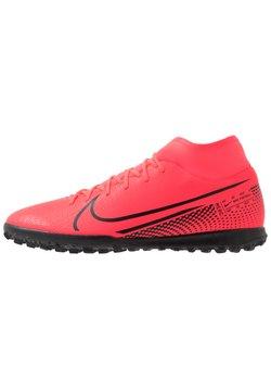 Nike Performance - MERCURIAL 7 CLUB TF - Fußballschuh Multinocken - laser crimson/black