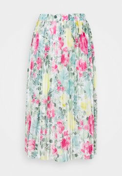 VILA PETITE - VIORLANDA MIDI SKIRT - Minirock - cloud dancer/water flower