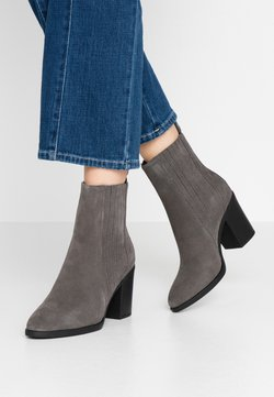 Even&Odd - LEATHER CHELSEA BOOTIE - High Heel Stiefelette - grey