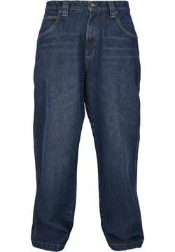 Southpole - SOUTHPOLE HERREN SOUTHPOLE LOGO BRANDED BAGGY JEANS - Jeans Straight Leg - washed mid blue