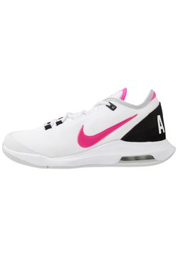Nike Performance - COURT AIR MAX WILDCARD - All court tennisskor - white/laser fuchsia/grey fog/black