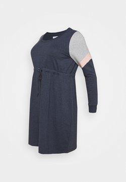 Mamalicious Curve - MLMENA  - Jerseykleid - navy blazer/melange
