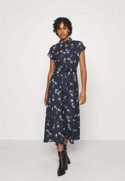 Vero Moda - VMFALLIE LONG TIE DRESS - Vestido camisero - navy blazer/newhallie
