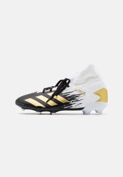 adidas Performance - PREDATOR 20.3 FOOTBALL BOOTS FIRM GROUND UNISEX - Fußballschuh Nocken - footwear white/gold metallic/core black