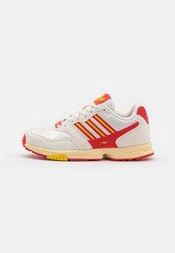 adidas Originals - ZX 1000 C UNISEX - Sneaker low - chalk white/red/yellow