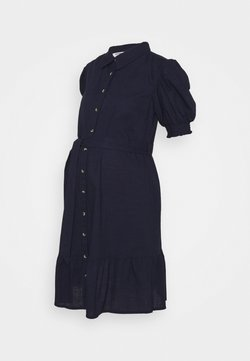 Dorothy Perkins Maternity - PUFF SLEEVE SHIRT DRESS - Vestido informal - navy