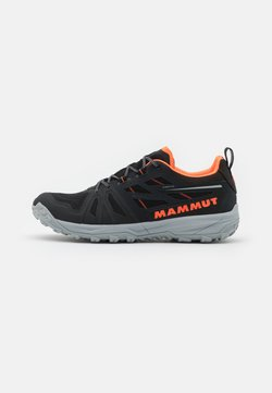 Mammut - SAENTIS LOW GTX - Vaelluskengät - black/vibrant orange
