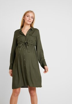 MAMALICIOUS - MLMERCY  WOVEN SHIRT DRESS - Vestido camisero - climbing ivy