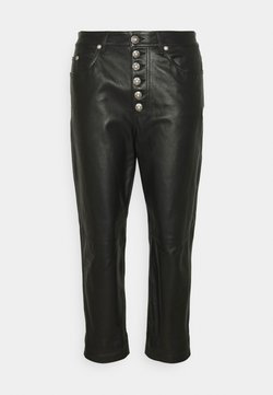 Dondup - KOONS - Pantalon en cuir - black