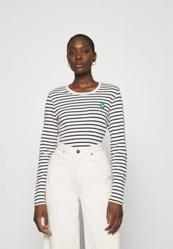 Wood Wood - LONG SLEEVE - Langarmshirt - off white/navy stripes