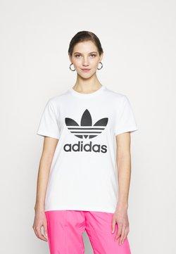 adidas Originals - TREFOIL TEE - Printtipaita - white