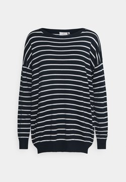 Kaffe - KAMALA LONG SLEEVE - Strickpullover - midnight marine