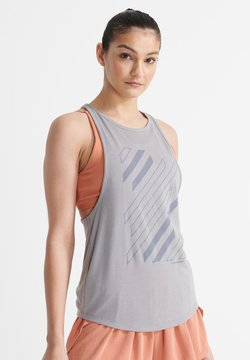 Superdry - FLEX TWIST BACK - Funktionsshirt - grey