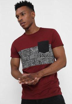 Pier One - T-shirt imprimé - bordeaux