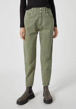 PULL&BEAR - Jeans baggy - mottled dark green