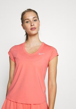Nike Performance - DRY  - T-Shirt basic - sunblush/white