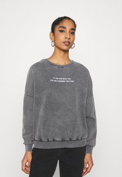 Even&Odd - Printed Oversized Sweatshirt - Sweatshirt - dark grey