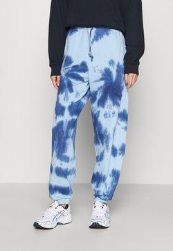 Topshop - SMUDGE TIE DYE JOGGER - Jogginghose - blue