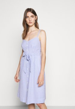 J.CREW - ROSINI DRESS CARLYLE SEERSUCKER - Freizeitkleid - blue/white