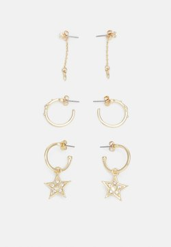 Pieces - PCSTATTI EARRINGS 3 PACK - Earrings - gold-coloured