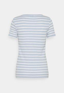 Tommy Hilfiger - SKINNY OPEN - T-Shirt print - breezy blue