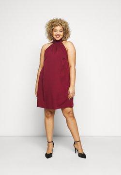 Vero Moda Curve - VMJASIKA SHORT DRESS - Freizeitkleid - cabernet