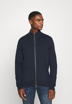 Marc O'Polo - JACKET WITH ZIP - Strickjacke - total eclipse