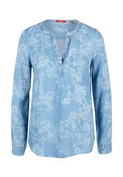 s.Oliver - MIT ORNAMENT-MUSTER - Bluse - light blue paisley